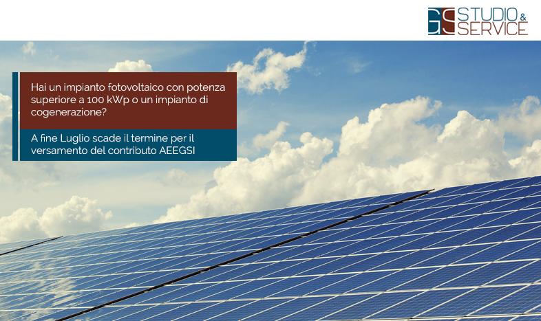 contributo AEEGSI impianti fotovoltaici- GS Service