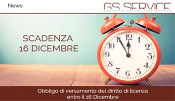Versamento diritto di licenza - GS Service