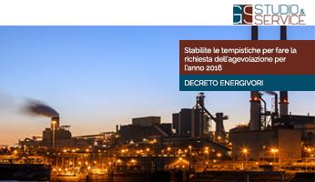 Decreto Energivori - anno 2016 - GS Service