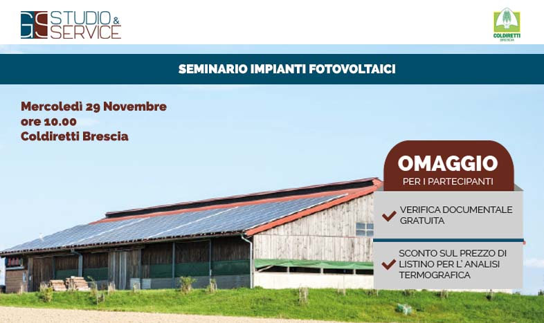 Convegno Fotovoltaico Coldiretti Brescia GS Service